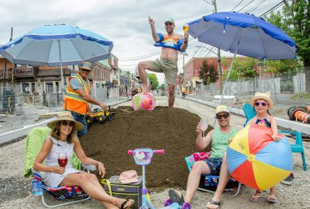 Magog: un gros «beach party» dans le chantier du centre-ville